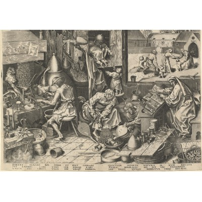 Puzzle Grafika-00710 Brueghel Pieter: The Alchemist, 1558
