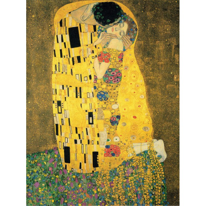 Klimt Gustav : The Kiss, 1907-1908