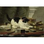 Puzzle  Grafika-00754 Henriette Ronner-Knip : Kitten's Game