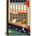 Puzzle  Grafika-00756 Utagawa Hiroshige : Asakusa Ricefields and Torinomachi Festival