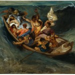 Puzzle  Grafika-00777 Delacroix Eugène: Christ on the Sea of Galilee, 1841