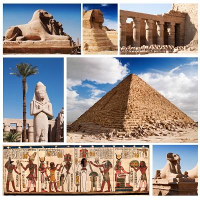 Puzzle Grafika-00804 Collage Egypte, Sphinx et Pyramide Collage