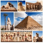 Puzzle  Grafika-00804 Collage Egypte, Sphinx et Pyramide Collage