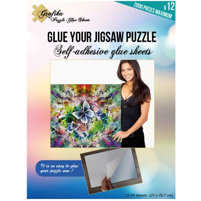 Grafika-00856 Puzzle Glue Sheets for 2000 Pieces