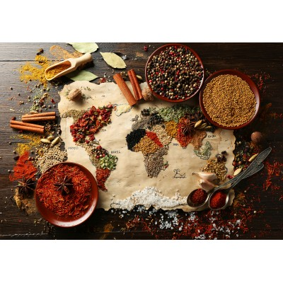 Puzzle Grafika-00995 World map in Spices