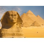 Puzzle  Grafika-01091 Sphinx and Pyramids at Giza
