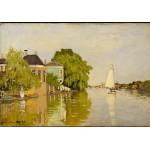 Puzzle  Grafika-01118 Claude Monet: Houses on the Achterzaan, 1871