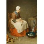 Puzzle  Grafika-01122 Jean Siméon Chardin - The Kitchen Maid, 1738