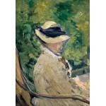 Puzzle  Grafika-01129 Edouard Manet - Madame Manet at Bellevue, 1880