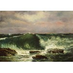 Puzzle  Grafika-01157 Gustave Courbet: Waves, 1870