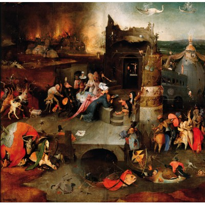 Puzzle Grafika-01165 Bosch: The Temptation of Saint Anthony, 1495-1515