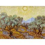 Puzzle  Grafika-01173 Vincent van Gogh: Olive Trees, 1889