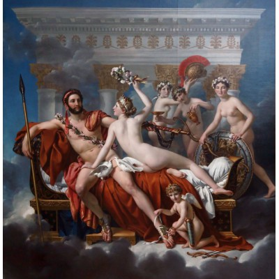 Puzzle Grafika-01194 Jacques-Louis David: Mars Being Disarmed by Venus, 1824