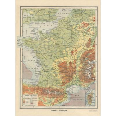 Puzzle Grafika-01225 Map of France - Larousse, 1925