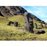 Puzzle  Grafika-01266 Moai at Quarry, Easter Island