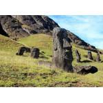 Puzzle  Grafika-01267 Moai at Quarry, Easter Island