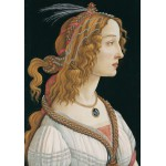 Puzzle  Grafika-01283 Sandro Botticelli: Portrait of a young Woman, 1494