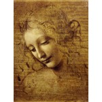 Puzzle  Grafika-01295 Leonardo da Vinci : The Face of Giovane Fanciulla, 1508
