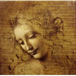 Puzzle  Grafika-01296 Leonardo da Vinci : The Face of Giovane Fanciulla, 1508