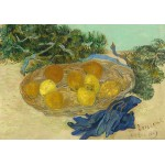 Puzzle  Grafika-01517 Vincent Van Gogh - Still Life of Oranges and Lemons with Blue Gloves, 1889
