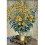 Puzzle  Grafika-01536 Claude Monet - Jerusalem Artichoke Flowers, 1880