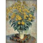 Puzzle  Grafika-01537 Claude Monet - Jerusalem Artichoke Flowers, 1880