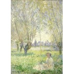 Puzzle  Grafika-01538 Claude Monet - Woman Seated under the Willows, 1880