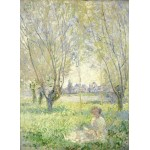 Puzzle  Grafika-01539 Claude Monet - Woman Seated under the Willows, 1880