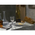 Puzzle  Grafika-01541 Claude Monet - Still Life with Bottle, Carafe, Bread, and Wine, 1863