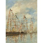 Puzzle  Grafika-01595 Eugène Boudin - Yacht Basin at Trouville-Deauville, 1895/1896