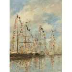 Puzzle  Grafika-01597 Eugène Boudin - Yacht Basin at Trouville-Deauville, 1895/1896