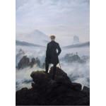 Puzzle  Grafika-01718 Caspar David Friedrich - Wanderer above the sea of fog, 1818