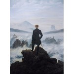 Puzzle  Grafika-01719 Caspar David Friedrich - Wanderer above the sea of fog, 1818
