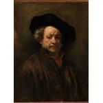 Puzzle  Grafika-01727 Rembrandt - Self-Portrait, 1660