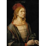 Puzzle  Grafika-01738 Albrecht Dürer - Self-portrait, 1493