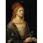Puzzle  Grafika-01739 Albrecht Dürer - Self-portrait, 1493