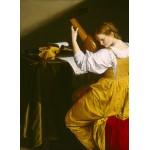 Puzzle  Grafika-01782 Orazio Gentileschi: The Lute Player, 1612/1620