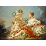 Puzzle  Grafika-01796 François Boucher: Allegory of Music, 1764