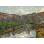 Puzzle  Grafika-01853 Paul Gauguin : Brittany Landscape, 1888