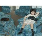 Puzzle  Grafika-01922 Mary Cassatt: Little Girl in a Blue Armchair, 1878