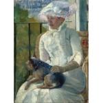 Puzzle  Grafika-01927 Mary Cassatt: Young Girl at a Window, 1883-1884