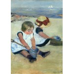 Puzzle  Grafika-01938 Mary Cassatt: Children Playing on the Beach, 1884
