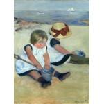 Puzzle  Grafika-01939 Mary Cassatt: Children Playing on the Beach, 1884