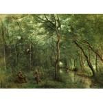Puzzle  Grafika-01947 Jean-Baptiste-Camille Corot: The Eel Gatherers, 1860-1865