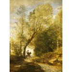 Puzzle  Grafika-01956 Jean-Baptiste-Camille Corot: The Forest of Coubron, 1872