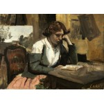 Puzzle  Grafika-01961 Jean-Baptiste-Camille Corot: Young Girl Reading: Young Girl Reading, 1868