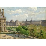 Puzzle  Grafika-02013 Camille Pissarro: Place du Carrousel, Paris, 1900