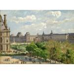 Puzzle  Grafika-02014 Camille Pissarro: Place du Carrousel, Paris, 1900