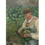 Puzzle  Grafika-02023 Camille Pissarro: The Gardener - Old Peasant with Cabbage