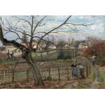 Puzzle  Grafika-02037 Camille Pissarro: The Fence, 1872